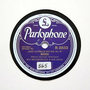 "BIX BEIDERBECKE ORCHESTRA (Bix & His Gang) ""Margie"" PARLOPHONE R-2833 [78 RPM]"