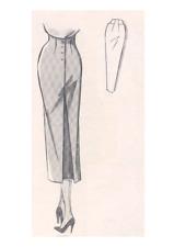 1950 Wiggle High Waist Skirt Vintage Sewing Pattern VTG 10 12 14 16 18 20 22 24