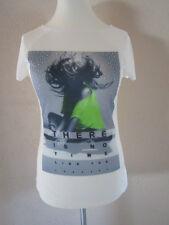 Shirt Woll weiß 32-34 Muster Kurzarm