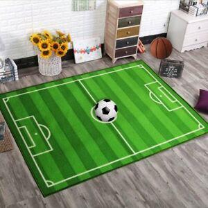 KIDS LARGE SMALL BEDROOM FOOTBALL PITCH FLOOR RUG NURSERY BOYS PLAY MATS CARPETS