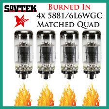 New 4x Sovtek 5881 / 6L6WGC   Matched Quad / Quartet / Four Tubes   *Burned In*