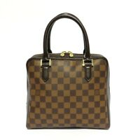 LOUIS VUITTON Brera Damier Ebene Canvas Leather Handles Satchel Tote Bag VTG '98