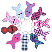 10pcs Lipstick Keychain Mermaid Lipstick Balm Holder Chapstick Holder for Ladies