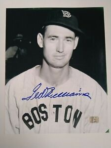 Ted Williams signed autographed photograph Boston Red Sox - 8x10 - COA
