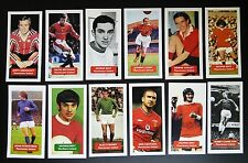 Set completo di tutte le 34 Manchester United punteggio UK FOOTBALL Commercio Carte-LIMITED