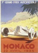FRENCH VINTAGE POSTER 50x70cm MONACO F1 AUTOMOBILE GRAND PRIX 1935