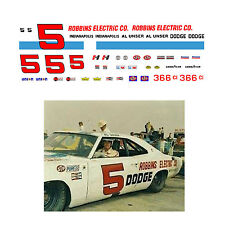 #5 Al Unser Robbins Electric 1969 1/64 scale decal AFX Tyco Lifelike Autoworld