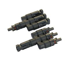 Pair of 3-to-1 T4 connectors for solar panels and PV systems