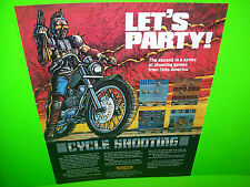 Taito CYCLE SHOOTING + NY Captor 1986 NOS Video Arcade Game Promo Sales Flyer