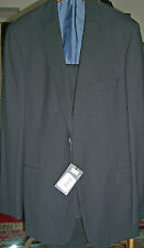 NWT  HUGO BOSS Black two toned Wool Suit 44 R