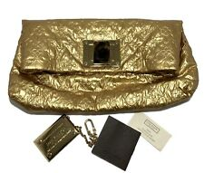 LOUIS VUITTON GOLD LIMITED EDITION FLAP CLUTCH BAG