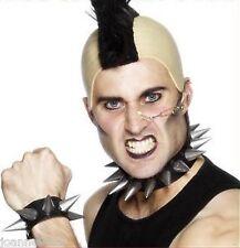 Punk Rocker Gothic Fancy Dress Costume Spiked Collar Choker and Bracelet Cuff BN