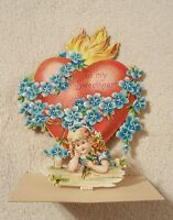 Small Vintage Pop Up Valentine Greeting card 3-d collectible