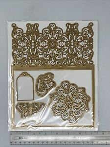 Anna Griffin 7x9 Butterfly Flourish Pattern Card Tag Embossing Cutting Dies