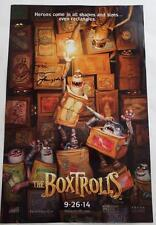 SIGNED SacAnime MAURICE LAMARCHE Sir Langsdale THE BOXTROLLS Movie Poster 11x17