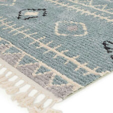 Azrou Bohemian Moroccan Tribal Blue Grey Rug Runner 80x300cm **FREE DELIVERY**