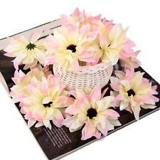20pcs Gerbera Daisy Heads Artificial Silk Flowers Corsage Decor DIY Pink