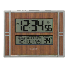 BBB86088 La Crosse Technology Atomic Digital Wall Clock with TX141V2 Refurbished