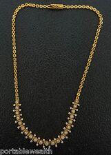 Round Diamond Necklace 14K Yellow Gold 3-4ct Custom