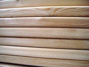 Terrassendielen 145x45mm glatt 1m-6m lang sib.Lärche Glattkantretter Dielen