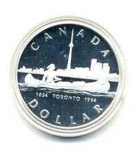 1 Dollar Kanada 1984 Indianer im Kanu Toronto Silber PP mit Zertifikat M_197