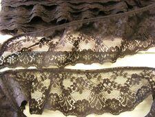 Gathered Black Lace 5 metres  (48545)