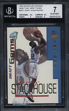 1995 Jerry Stackhouse Signature Rookies Draft Day Gems RC N-Mint BGS 7 Subs 9.5