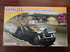 DRAGON 1/72 WW II GERMAN ARMOURED CAR SD.KFZ. 223 LEICHTE PANZERSPAHWAGE  7420