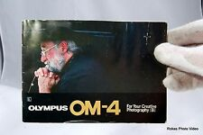 Olympus Camera OM-4 Guide Genuine For Your Creative Photography (B)