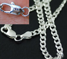 5PCS Fashion 4MM 925 Sterling Silver Plated Chain Men Figaro Necklace 16-30 Inch