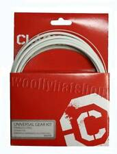 Clarks Universal Gear Bicycle Kit - Stainless Steel, Shimano Campagnolo WHITE