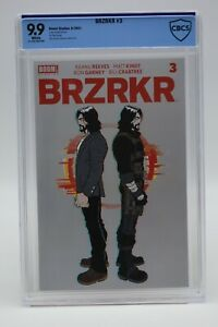 BRZRKR (2021) #3 Rafael Grampa Cover A CBCS 9.9 Blue Label White Pages Reeves