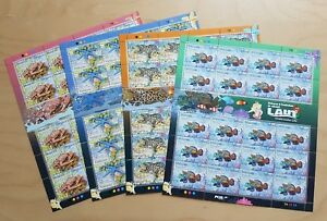 2012 Malaysia Underwater Marine Life Fish Crab Coral 80v Stamps on 4 Sheetlets
