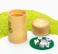 Fridolin Spiel aus Bambus Würfelbecher