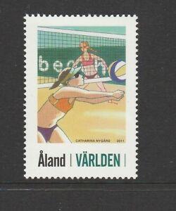 ALAND Islands - 2011 90c BEACH VOLLEYBALL single stamp MNH -