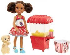 Barbie Sisters Chelsea Popcorn Stand Doll & Playset New