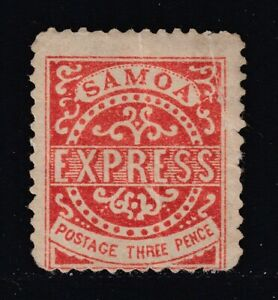Samoa 3d EXPRESS FORGERY of 1st State Serrane Type C 1 Dot Under M Reference