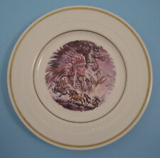Syracuse China Indian Chief Warrior and Horses Western Salad Bread Plate 28-D-10