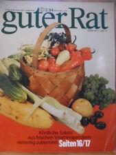 GUTER RAT 2/1984 DDR-Journal köstliche Salate ELASAN Sonnenuhr Fahrrad Vögel