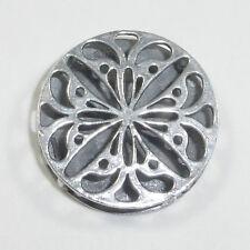 Silpada Floral .925 Sterling Silver Filigree Pendant S1832 Reversible