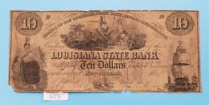 West Point Coins ~ $10 Louisiana State Bank 1857