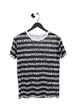 Saint Laurent Sample Summer Thin Black/White Men T-Shirt S size