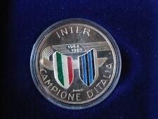 Calcio medaglia in argento della zecca Inter campione d'Italia 1988-89