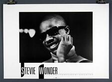 "Stevie Wonder, Young Black and White Music Poster, 20x28"", Rare Print, Lfa"