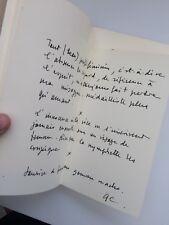 Guy Chambelland 1/33ex avec poème manuscrit - Dédicace signé E/O 1988