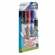 ArtSkills Eraseable Poster Markers, Black-Red-Blue with Eraser (PA-2381)