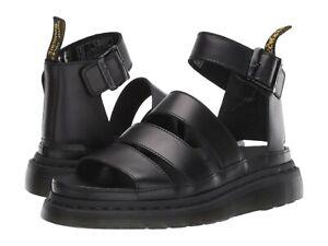 Women's Shoes Dr. Martens CLARISSA II Leather Platform Sandals 24477001 BLACK