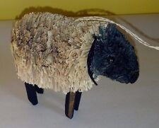 Wonderful Natural Brush Art Sheep Christmas Ornament - New