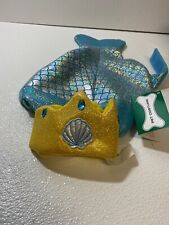 Dog Mermaid Halloween Costume Size Small Teal Mermaid Costume With Crown NWT
