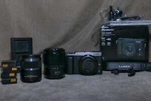 Panasonic Lumix GX80/85 Micro Four Thirds Mirrorless 4K Camera BUNDLE READ DESC